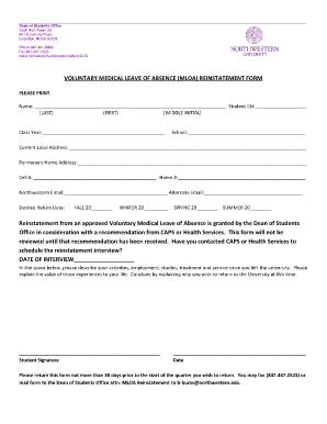 leave application form for employee
