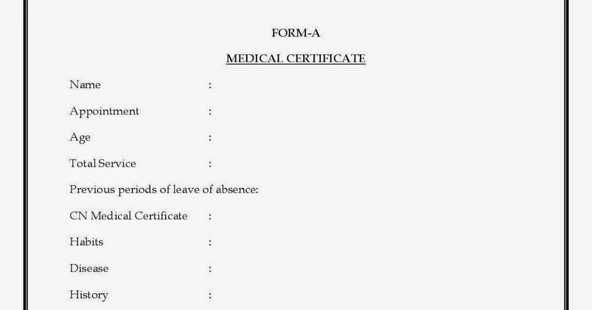 Form A for Medical Leave
