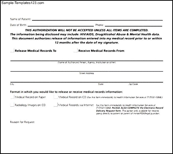 Medical Release Forms | Templates in Word and PDF Format