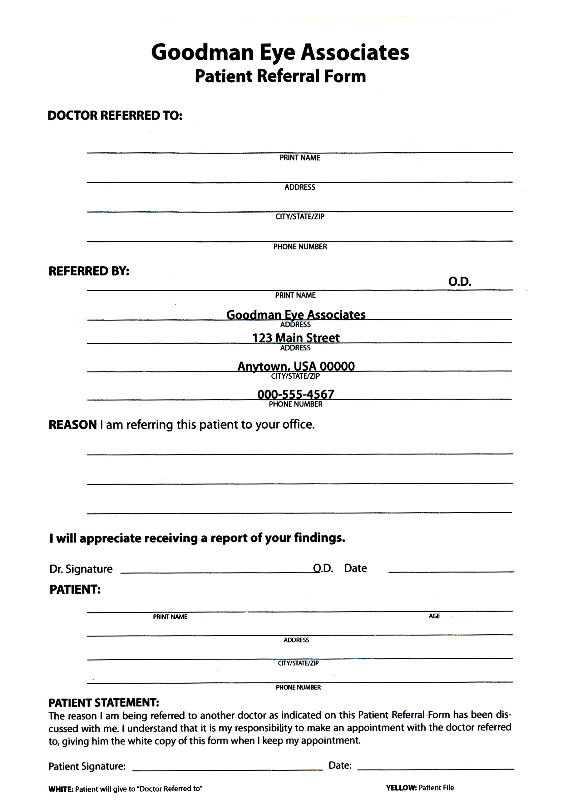 Medical referral form templates free printable for Referral document template