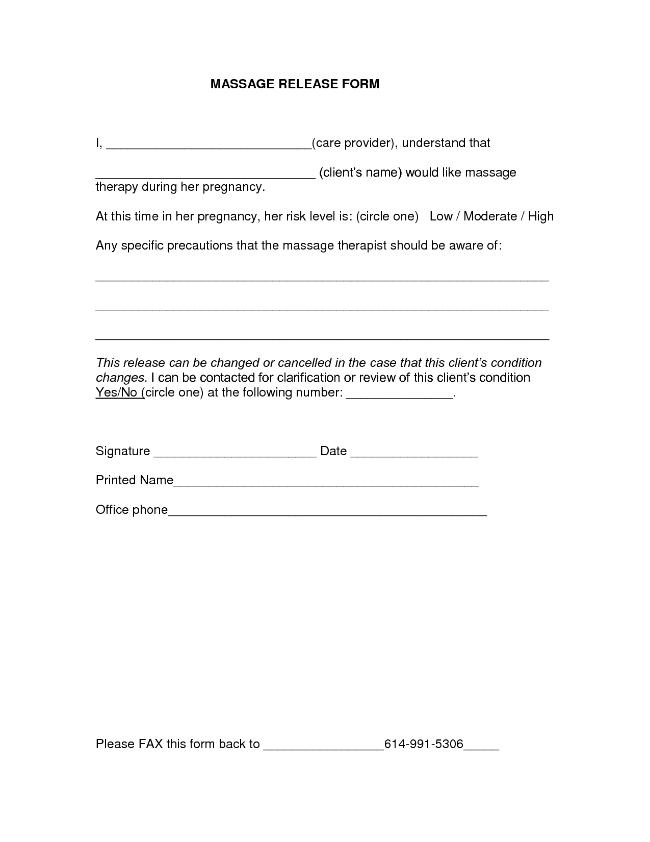 Medical release form templates free printable for Free photography print release form template