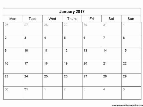 2017 Full Size Monthly Calendar Printables are Here!!!!!