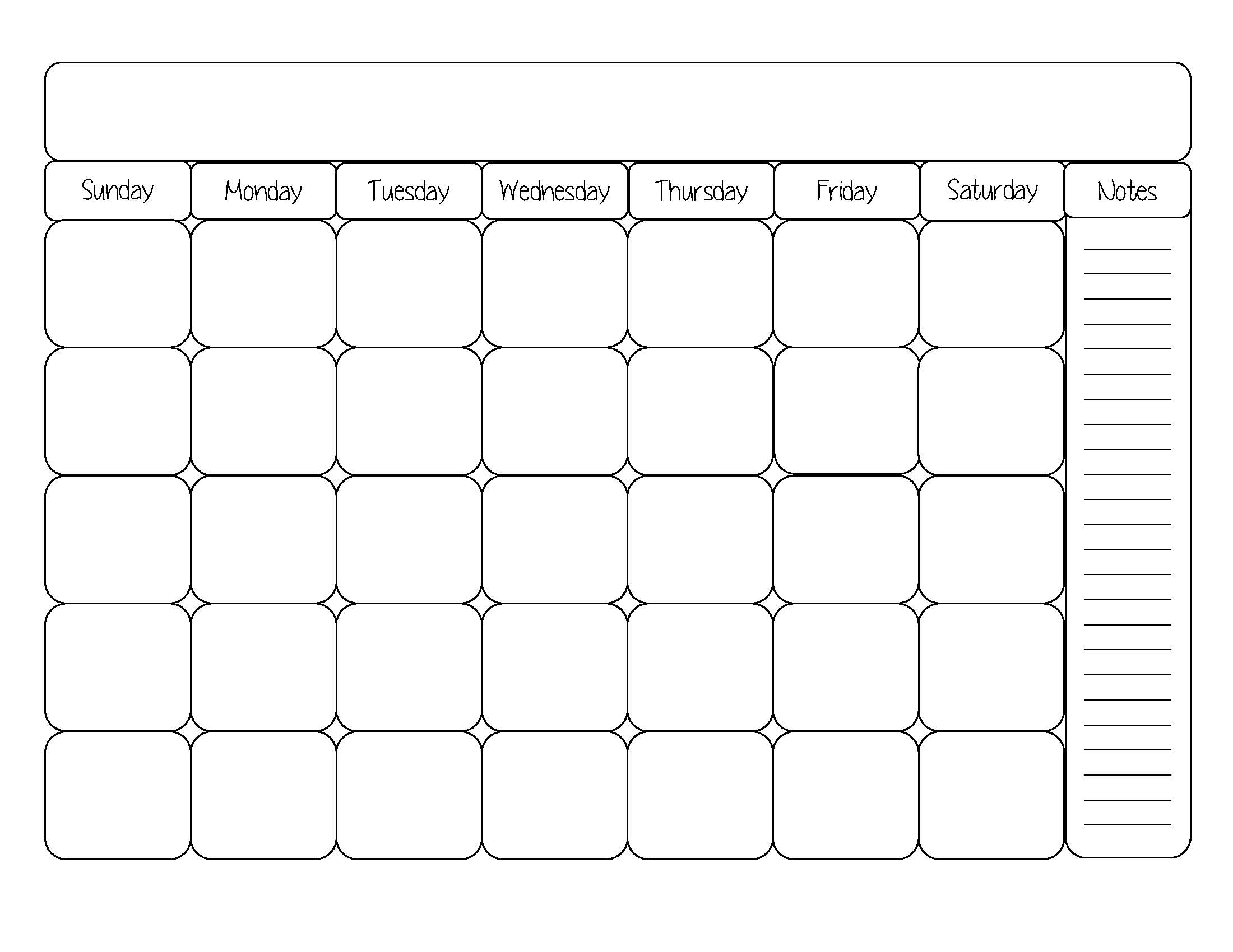 Free Online Calendar Template | great printable calendars
