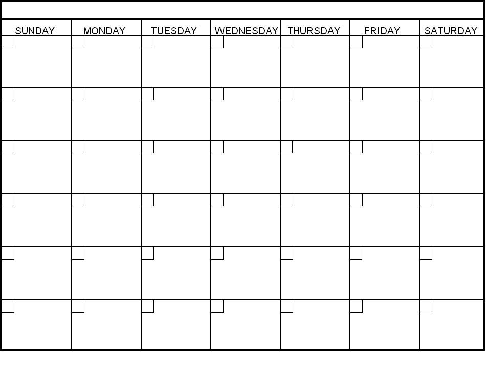 Blank Calendar Template | printable calendar templates