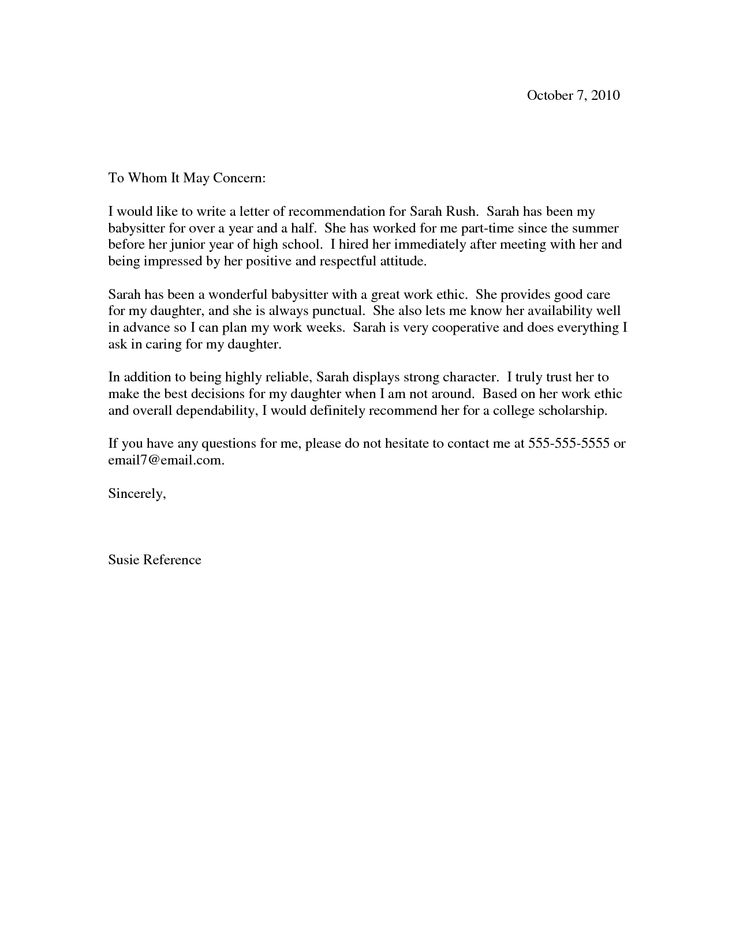 1000+ ideas about College Recommendation Letter on Pinterest