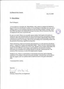 recommendation letter for college admission Best Letter Example