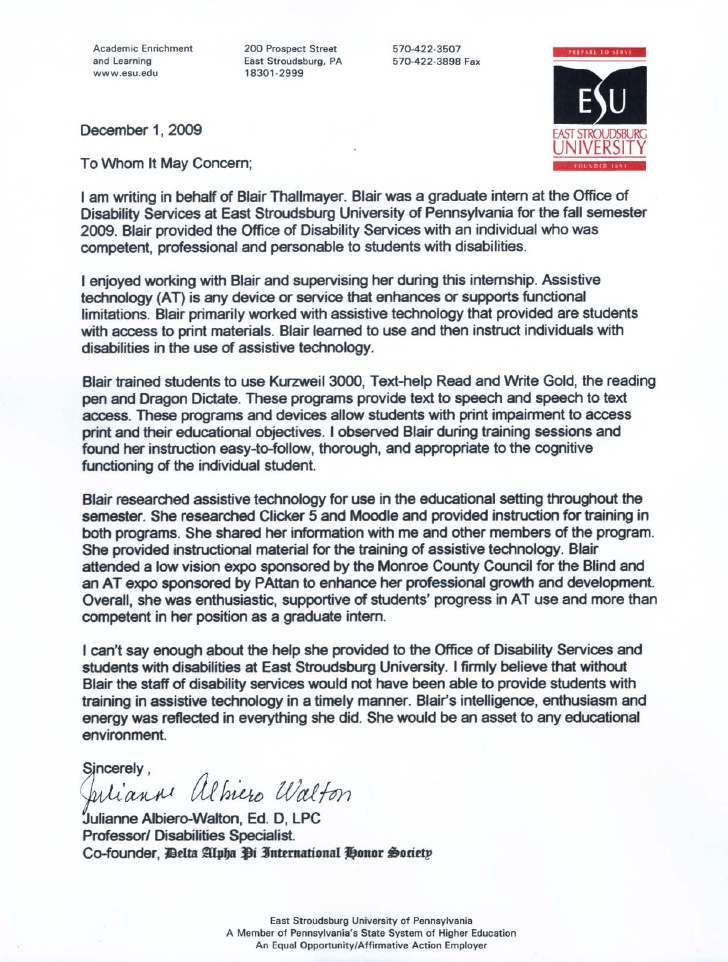 Letter Of Recommendation For An Intern Kardasklmphotography