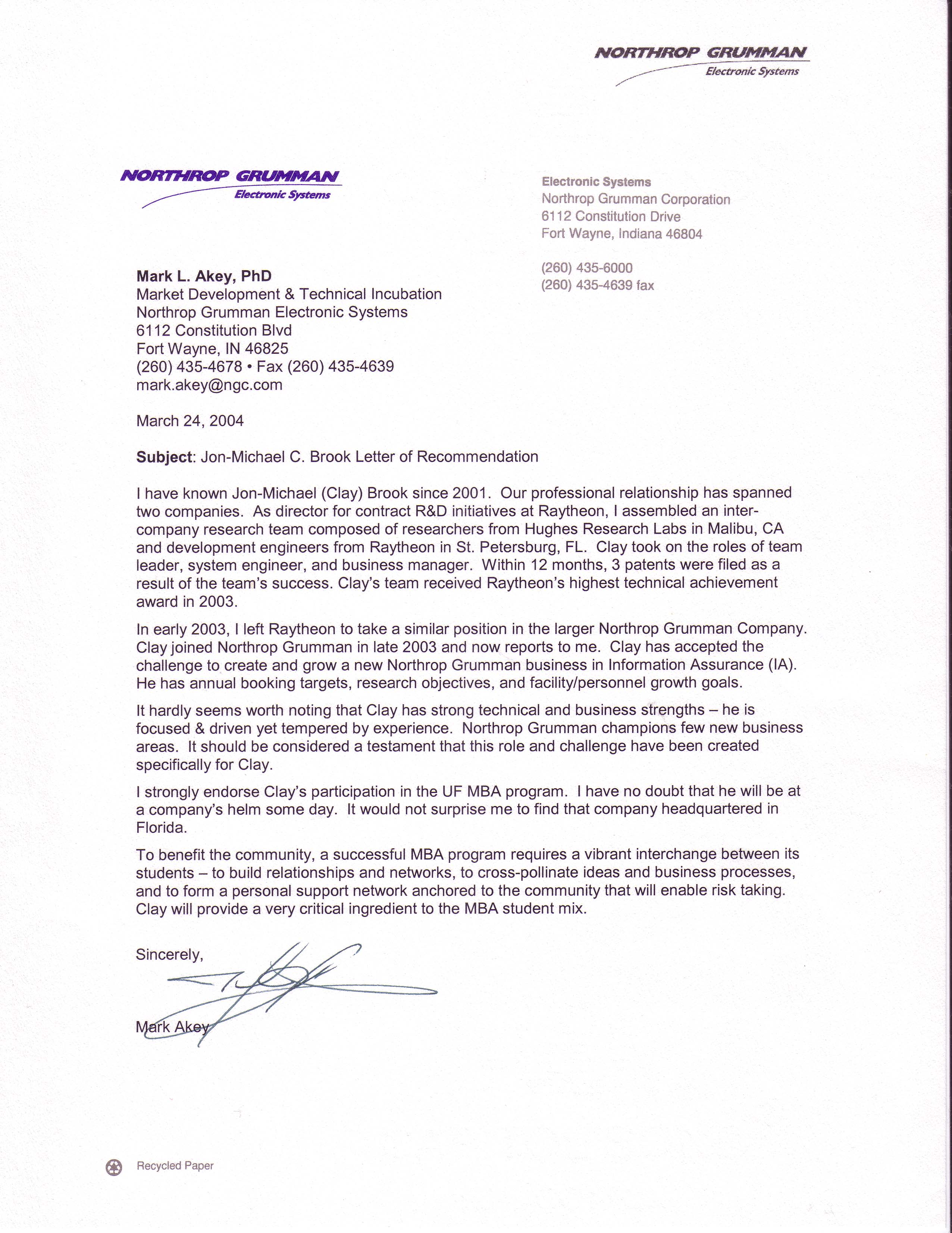 Recommendation Letter For Mba Program Perfect Christmas
