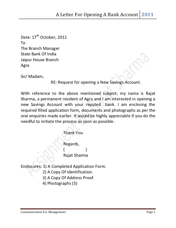 Reference Letter For Employee To Open Bank Account