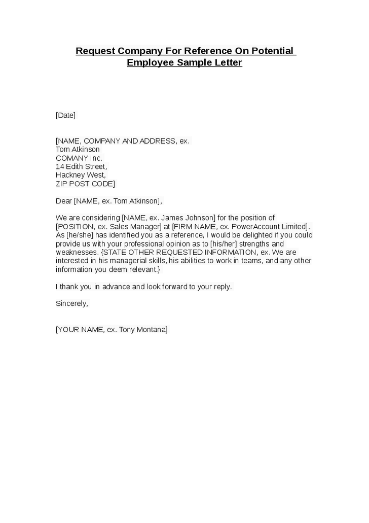 Recommendation Letter For Employee Leaving