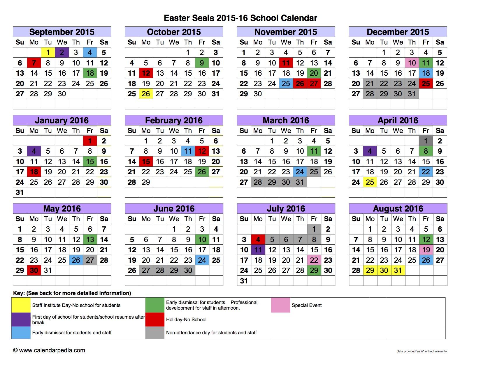 school calendar  u2013 templates free printable