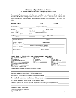 medical form for high school Fill Online, Printable, Fillable