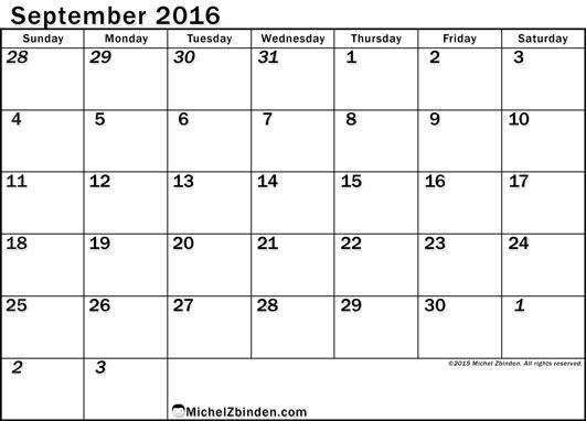 September 2016 Calendar Nz   monthly calendar printable