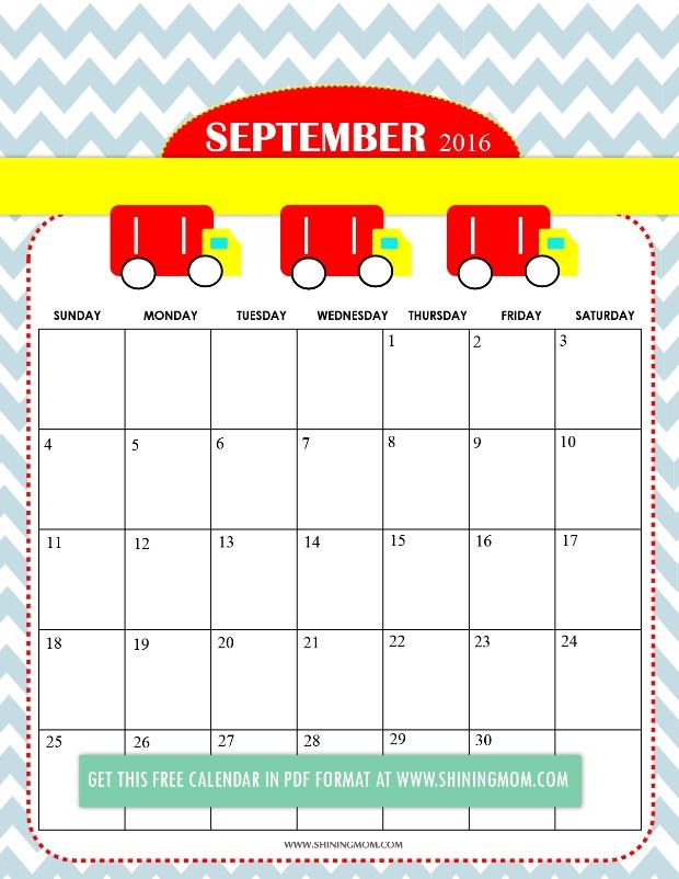 September 2017 Calendar Cute | weekly calendar template