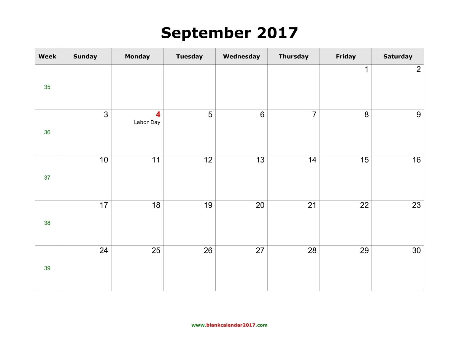 September 2017 Calendar Uk | yearly calendar template