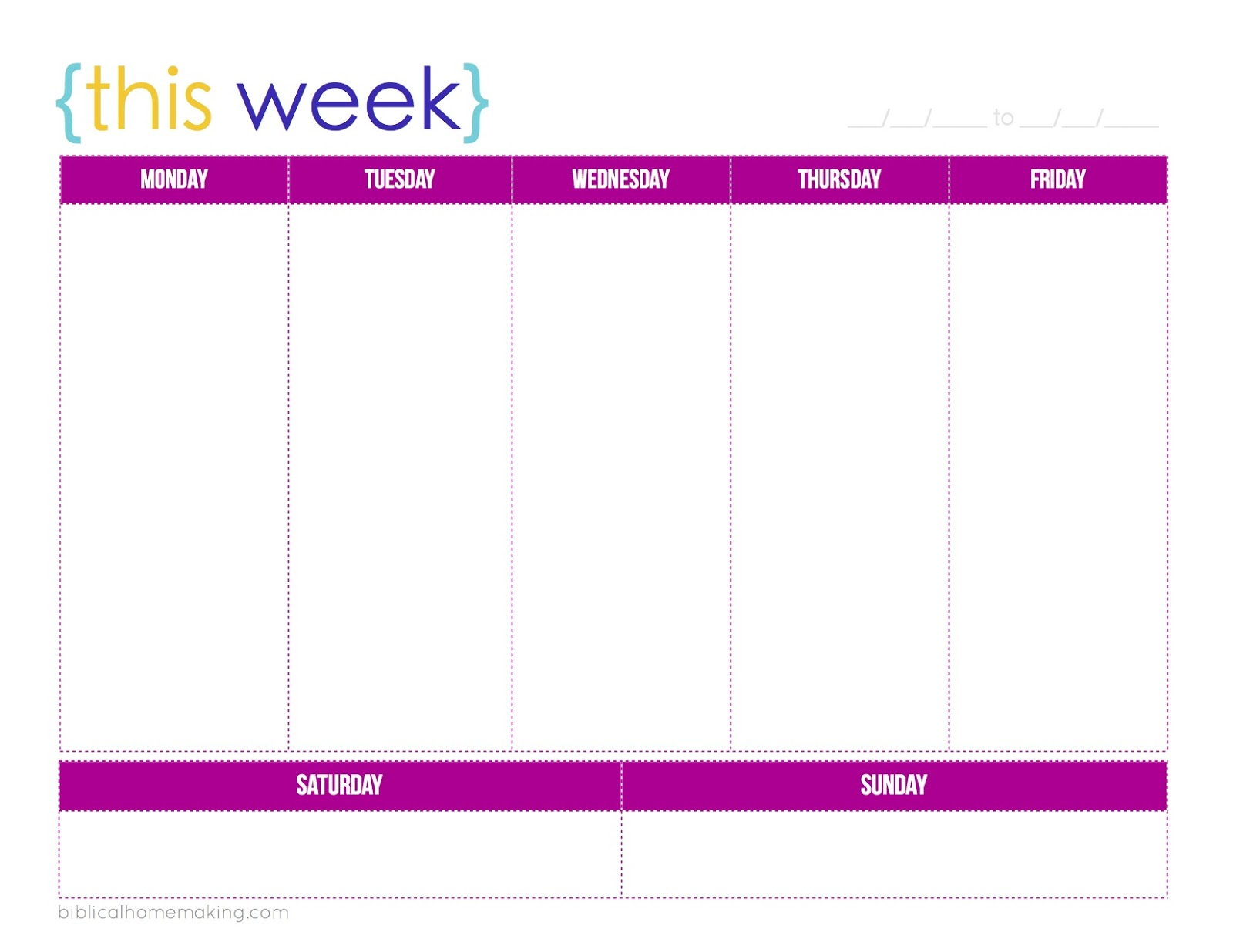 1000+ ideas about Weekly Planner Printable on Pinterest | Weekly