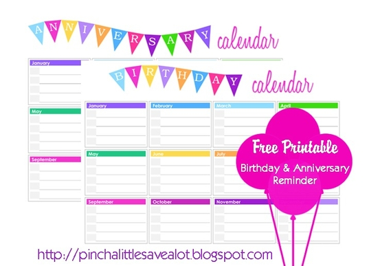 1000+ images about Printable Birthday Calendar on Pinterest