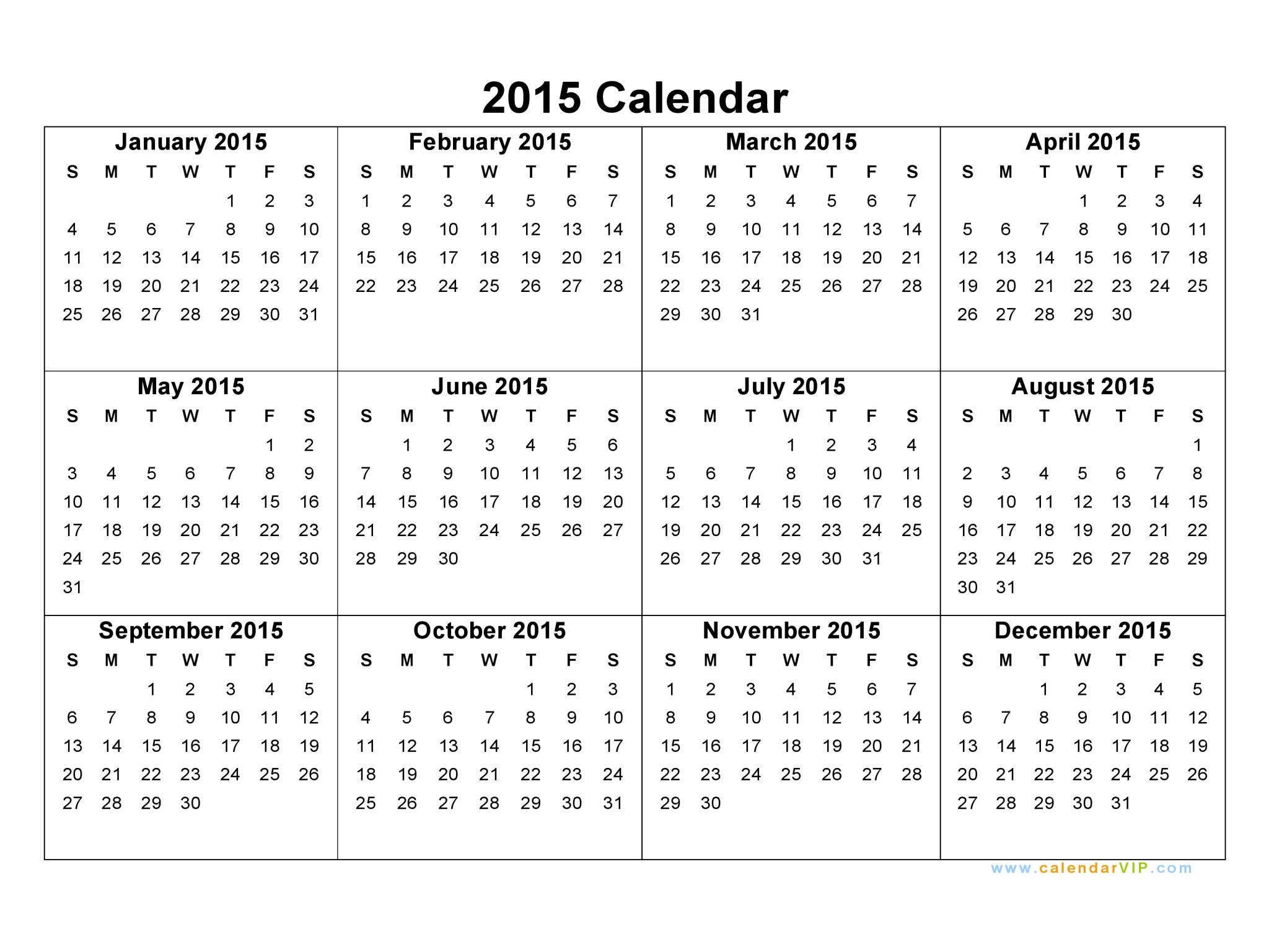 Yearly Calendar 2015   2017 calendar with holidays
