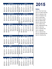 2015 Calendar Templates Download 2015 monthly & yearly templates