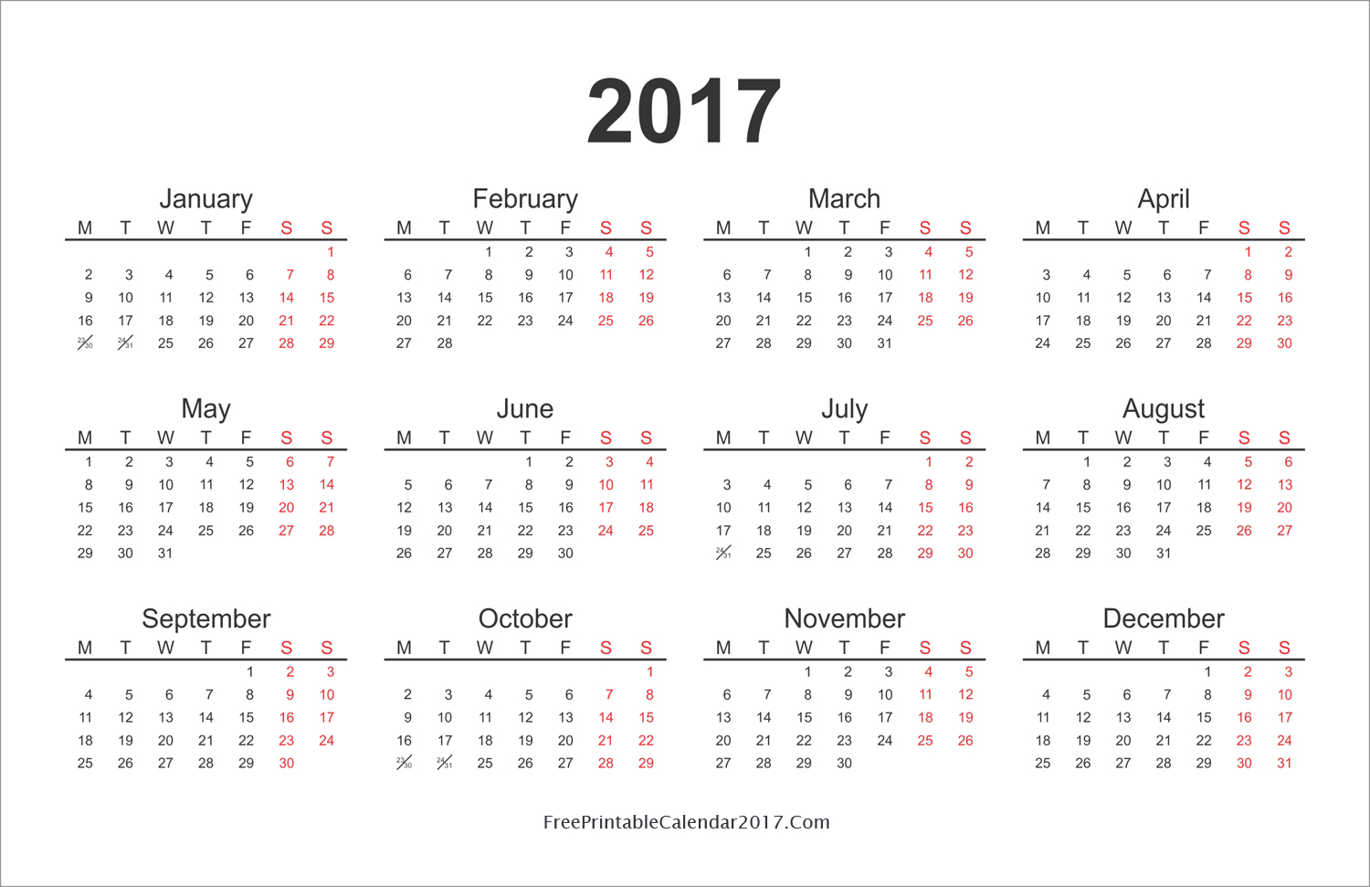 1000+ images about FREE printable 2017 + 2016 calendars on Pinterest