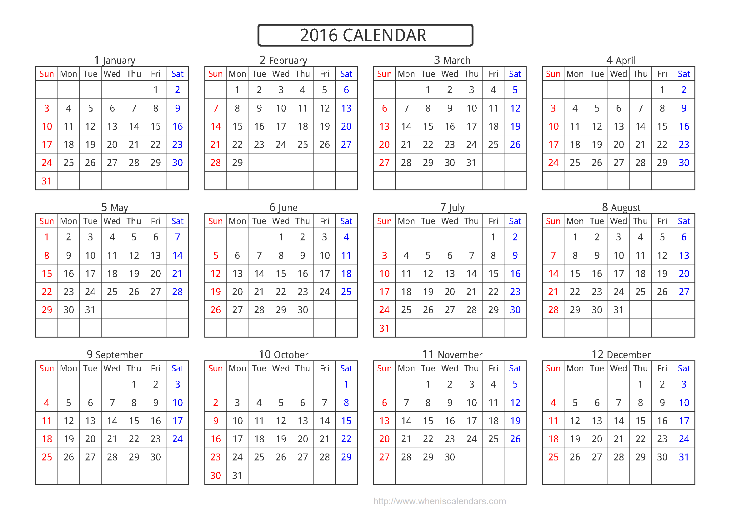 Yearly Calendar A4 | yearly calendar printable