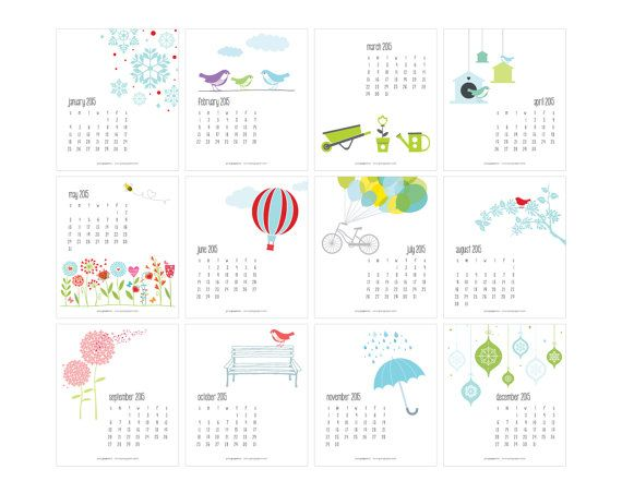 Yearly Calendar Cute Templates Free Printable