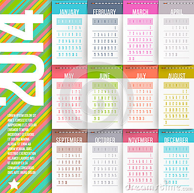 Yearly Calendar Design | yearly calendar template