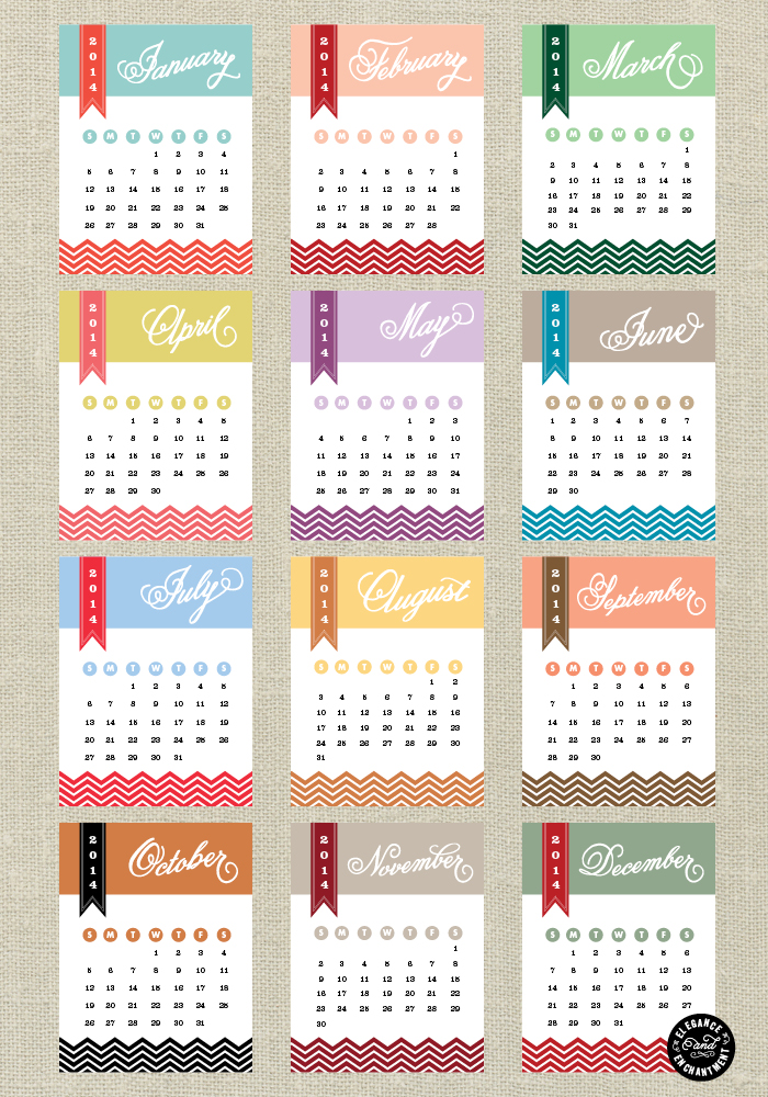 Yearly Calendar Design | yearly calendar template