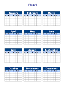 Yearly Calendar Template   doliquid