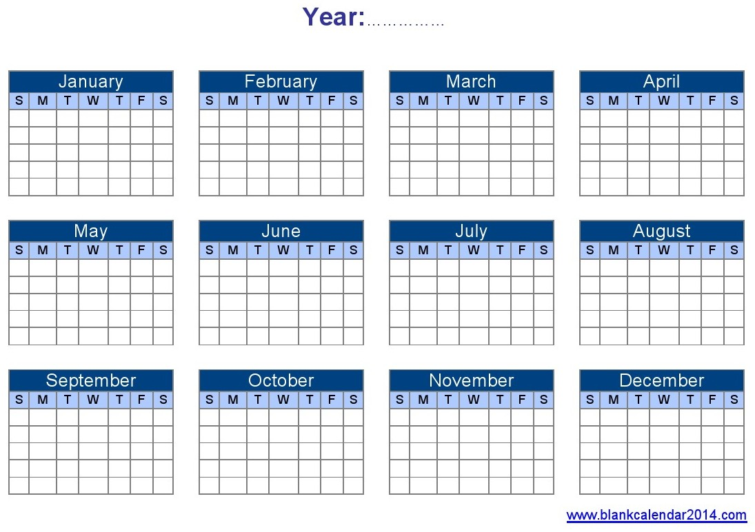 Yearly Calendar Template | doliquid