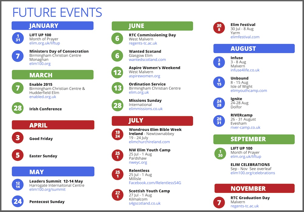 Yearly events calendar templates free printable for Template for schedule of events