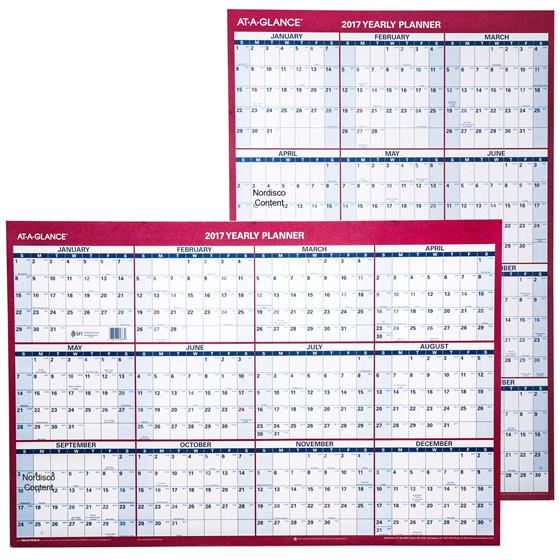 At A Glance 2017 Yearly Planner PM26 28, Dry Erase Wall Calendar