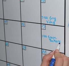 Yearly Wall Calendar Dry Erase | yearly calendar template