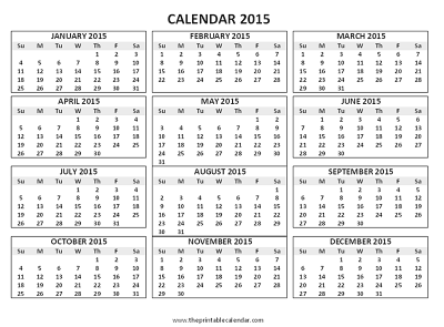 12 Months Calendar | yearly calendar template