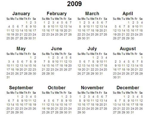 2009 Calendar Tamil   yearly calendar printable