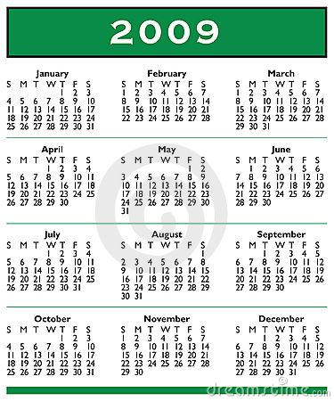Printable 2009 Calendar