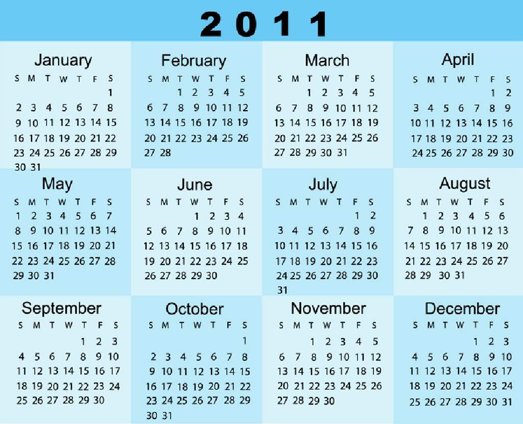 2011 Calendar High Resolution Wallpaper | Free Wallpapers