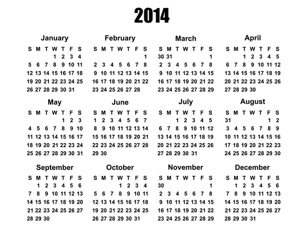 2014 Calendar Template Free Stock Photo Public Domain Pictures