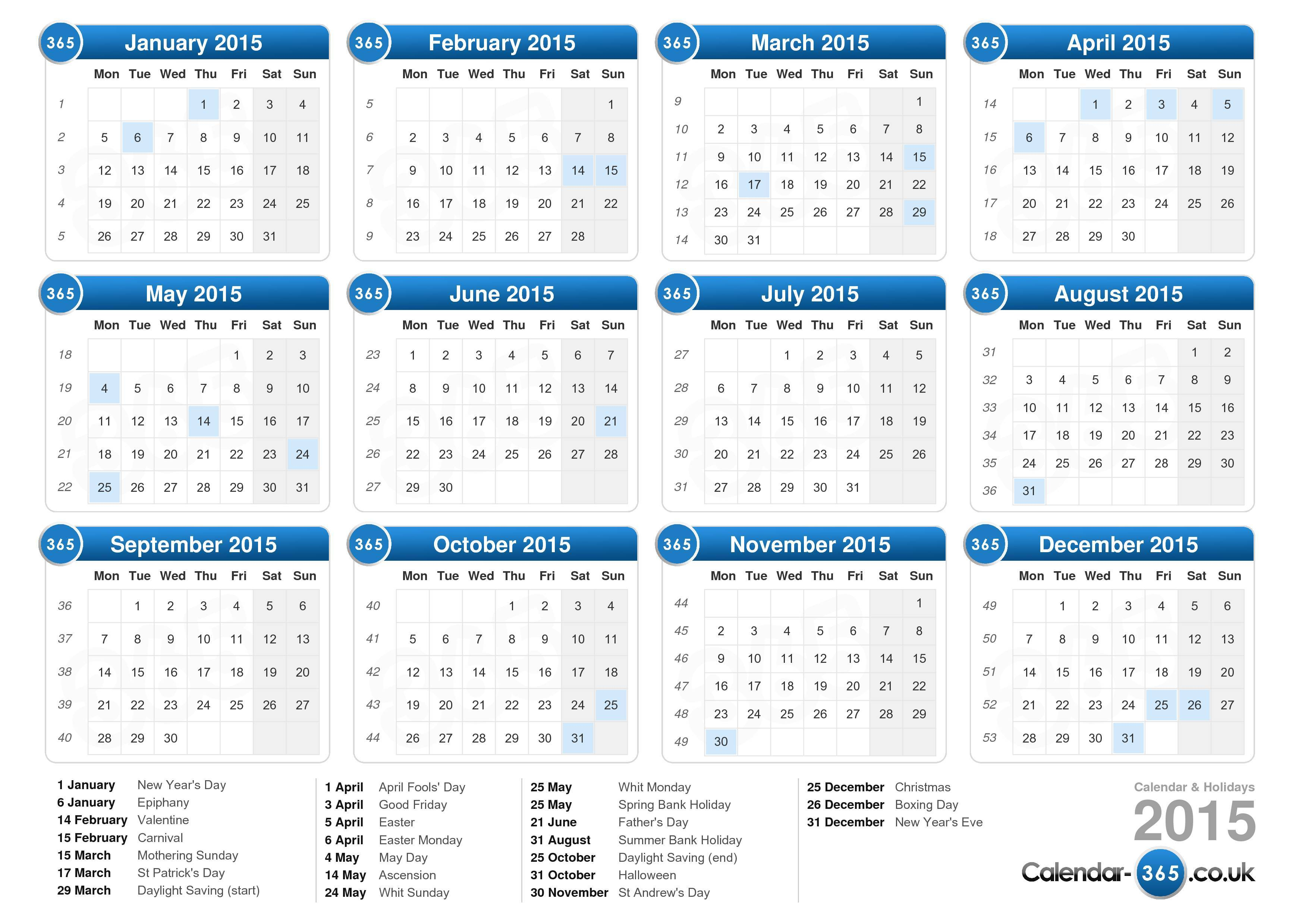 1000+ images about Calendar 2015 on Pinterest
