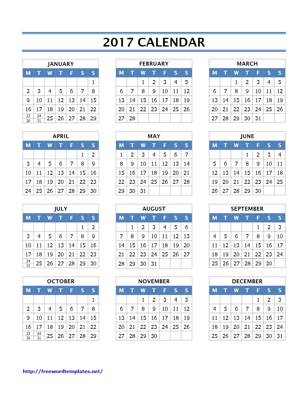 Calendar | Freewordtemplates.net