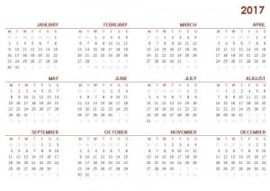 2017 October Calendar in Word Printable Monthly Calendar 2017