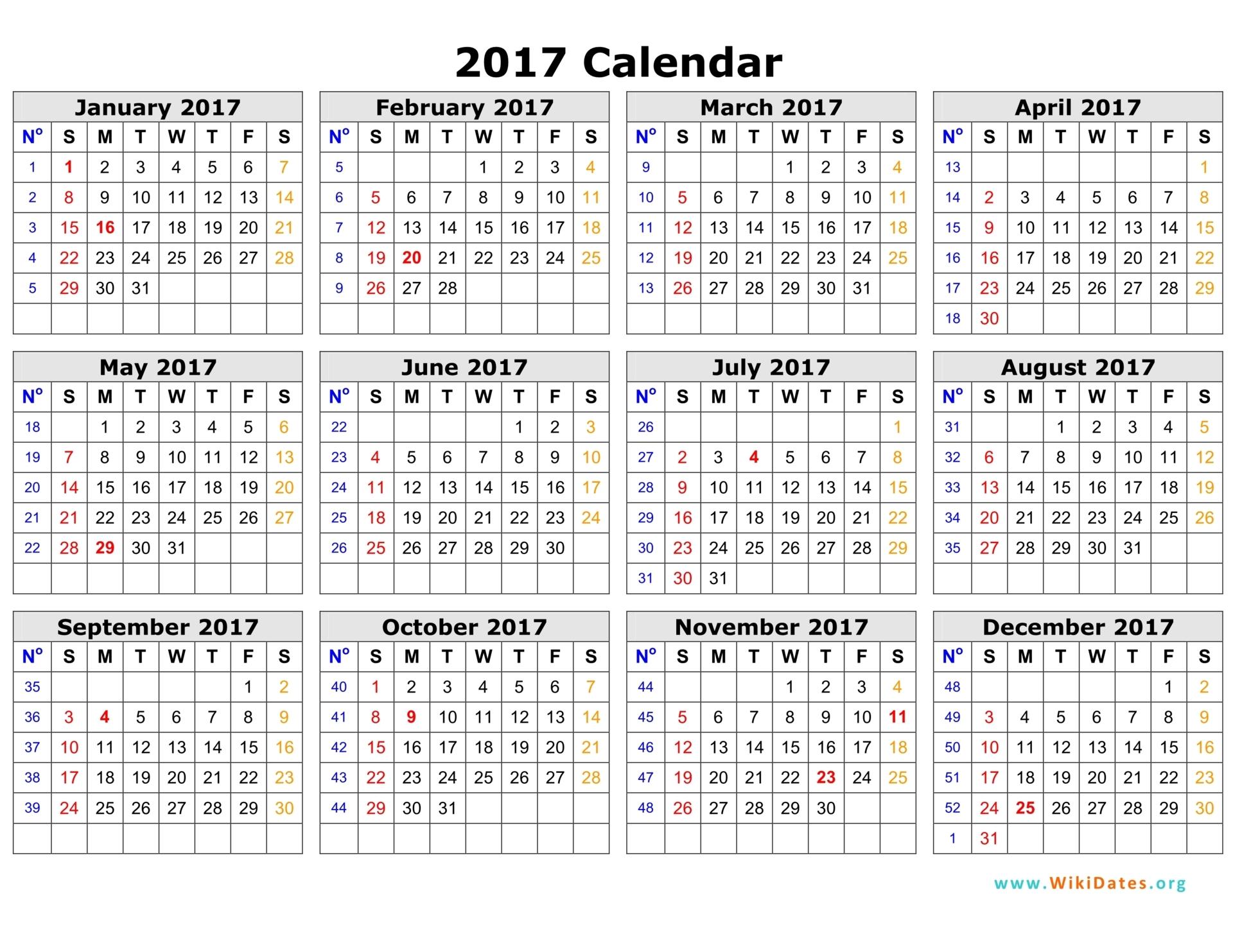 2017 calendar template Vector | Free Download