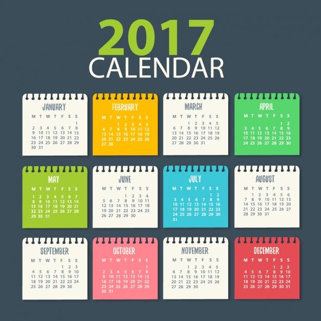 2017 Calendar 17 Free Printable Word Calendar Templates