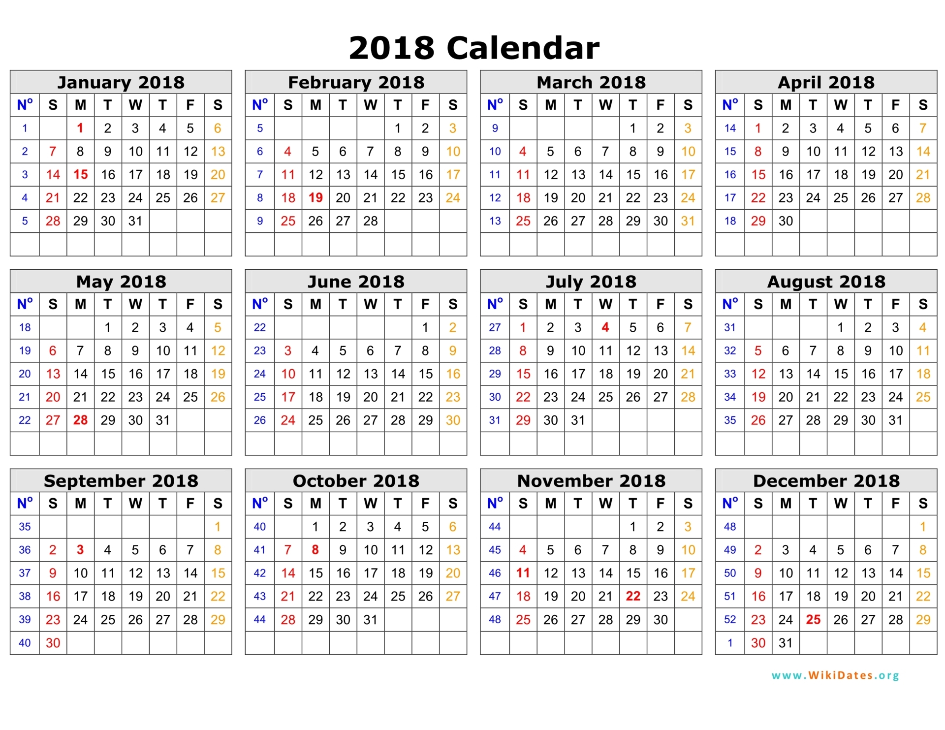 2018 Calendar Nz | printable calendar templates
