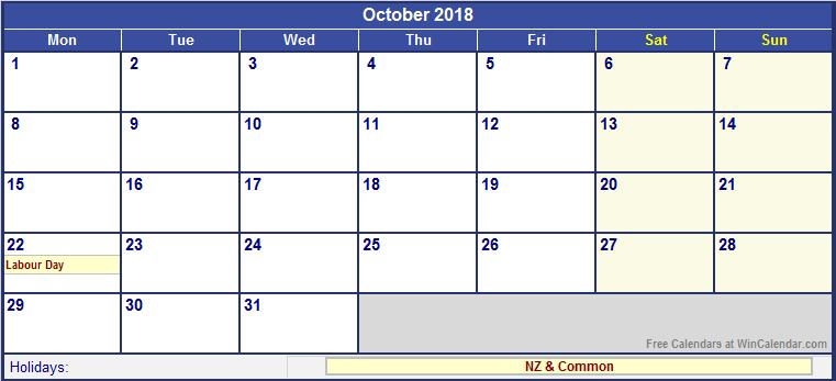 January 2018 Calendar Nz | free calendar 2017
