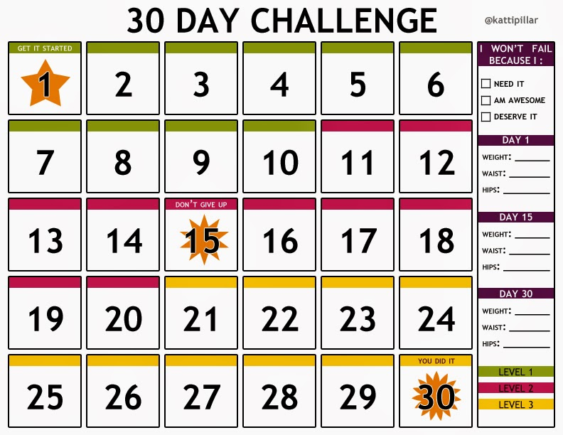 30 Day Calendar Template | printable calendar templates