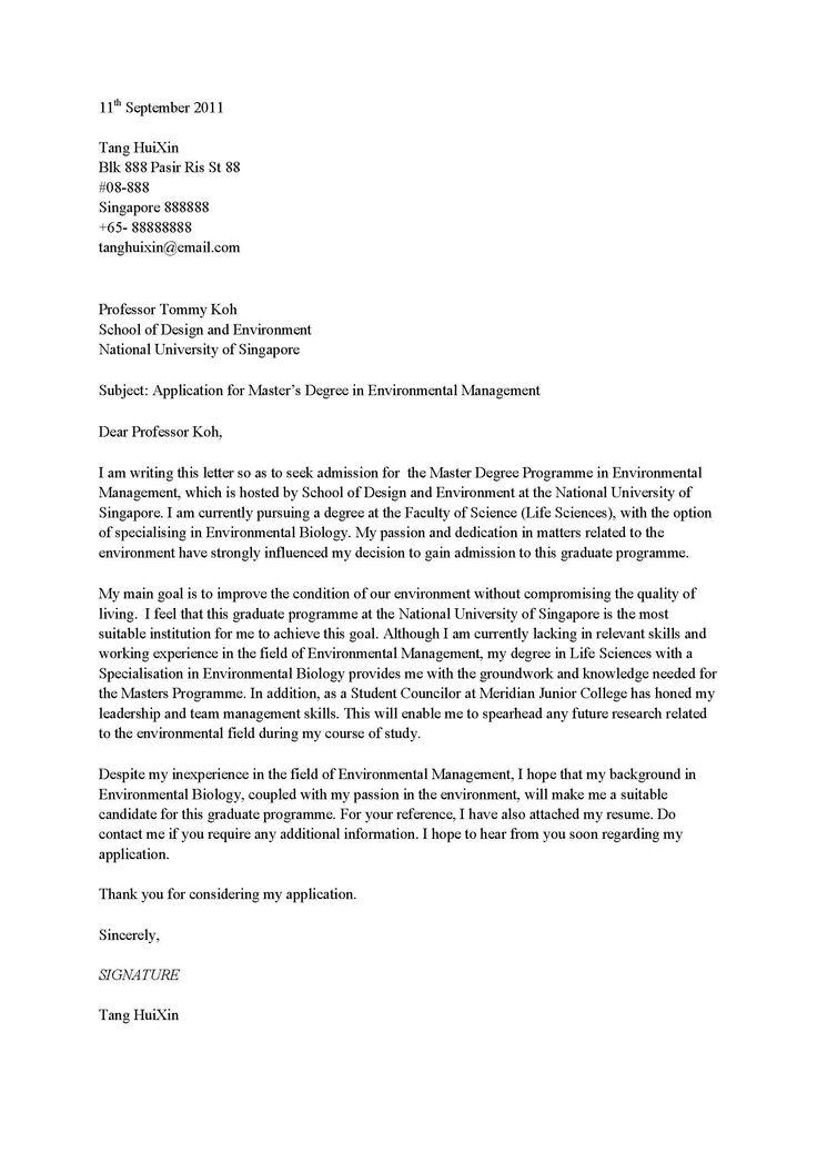 Job Application Letter In School
