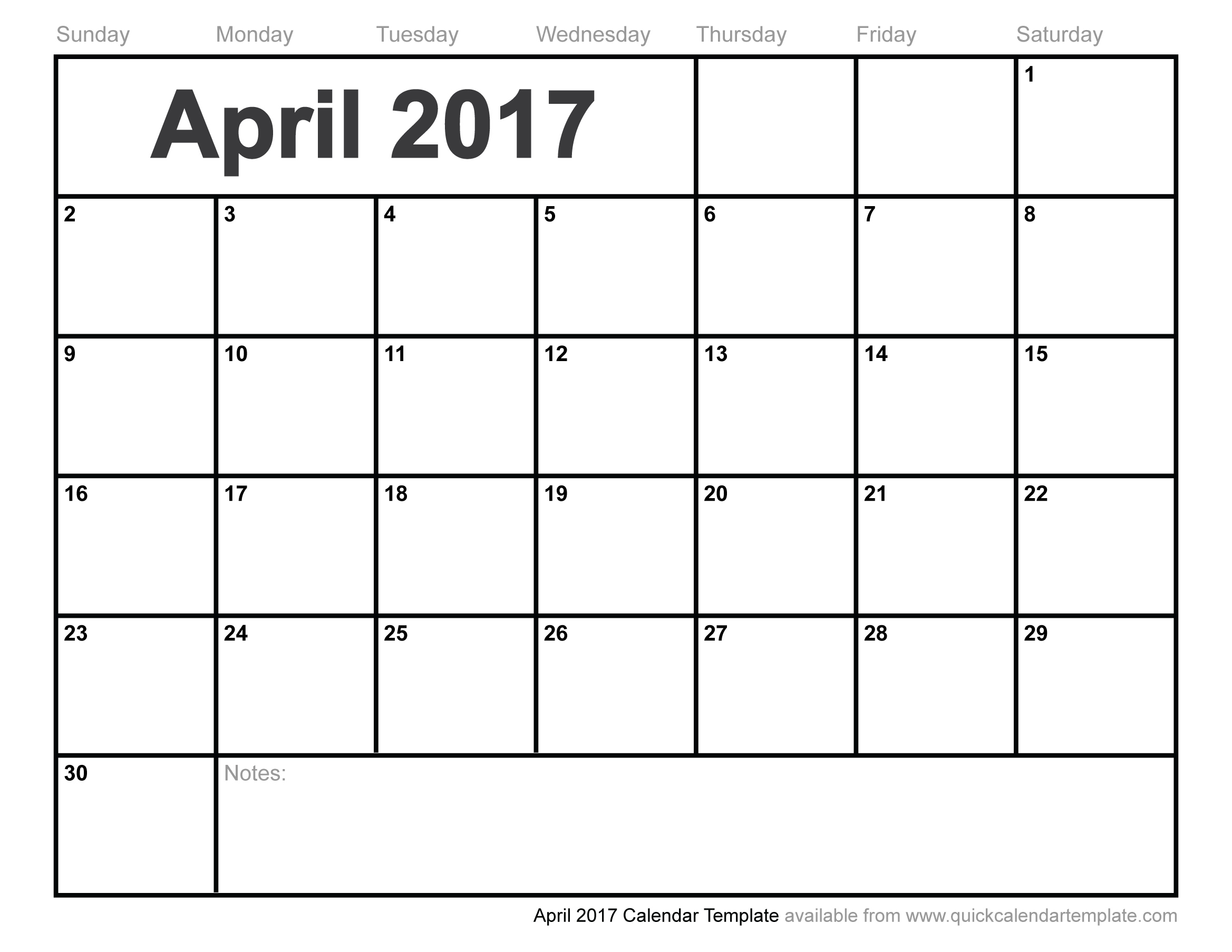 April 2017 Calendar Cute | printable calendar templates