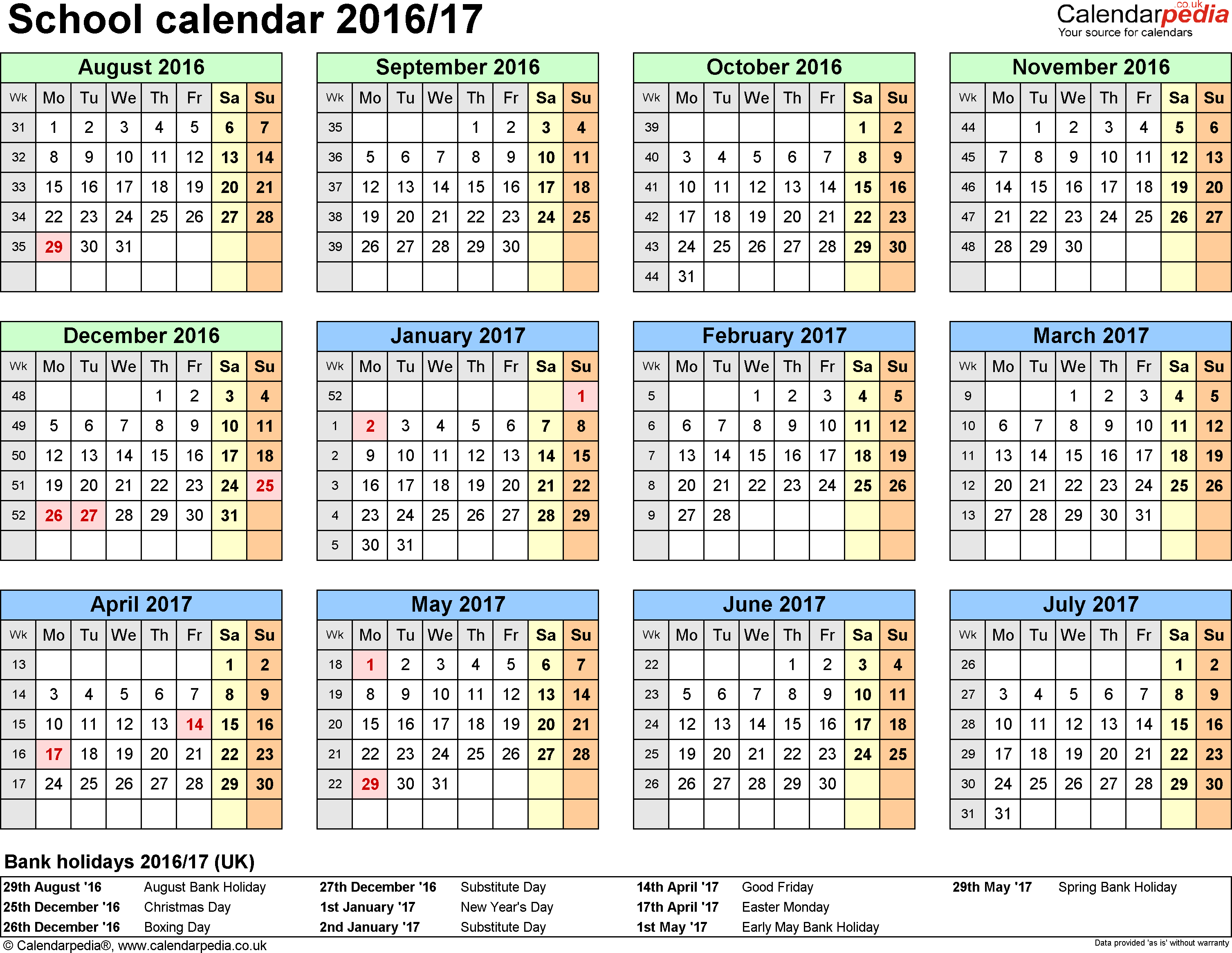 April 2017 Calendar Excel | 2017 calendar with holidays