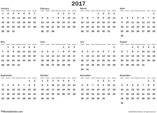 April 2017 Calendar Nz | yearly calendar template
